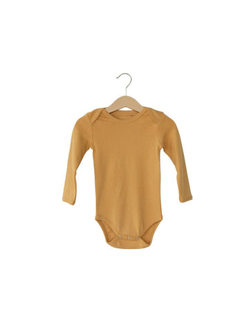 Organic Long Sleeve Bodysuit- Honey