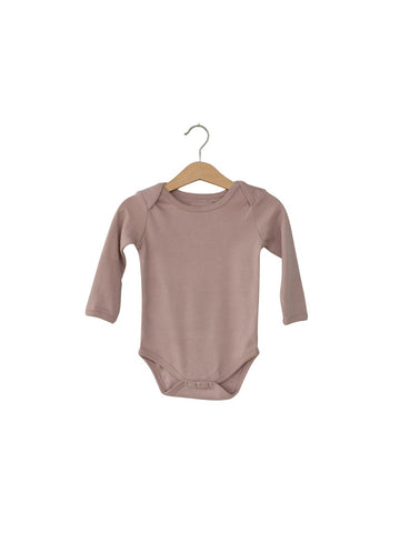Organic Long Sleeve Bodysuit- Mauve