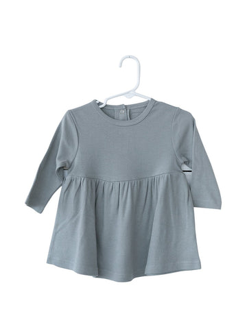 Organic Long Sleeve Dress-Neutral Grey