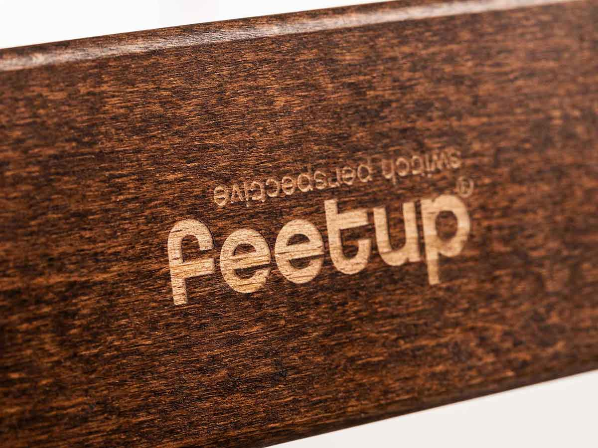 FeetUp® Trainer - Chocolate - White
