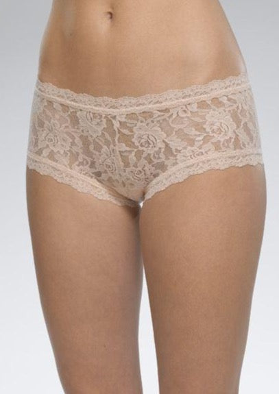 Signature Lace Boyshort - Chai