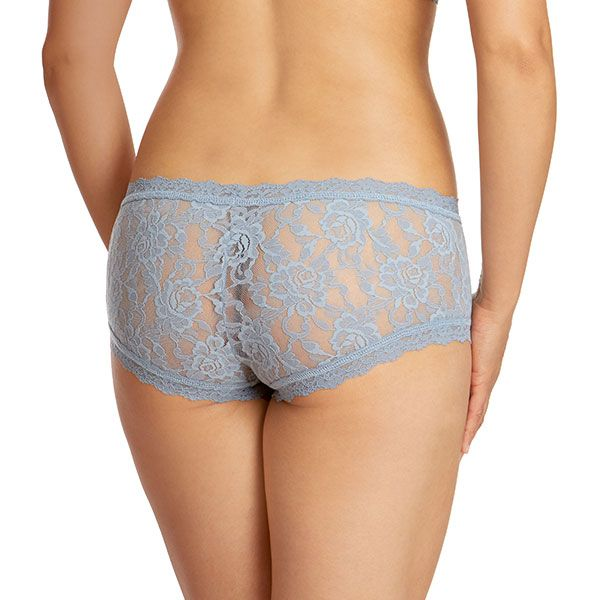 Signature Lace Boyshort - Grey Mist