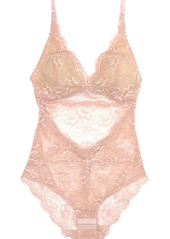 All Lace Bodysuit - Cherry Blossom