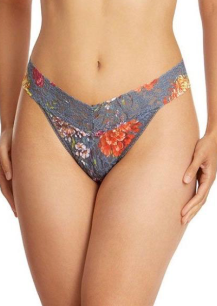 Signature Lace Original Rise Thong - Glen Garden