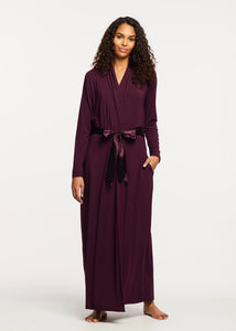 Iconic Long Robe - Dark Pansy