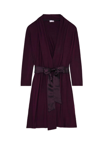 Iconic Robe - Dark Pansy