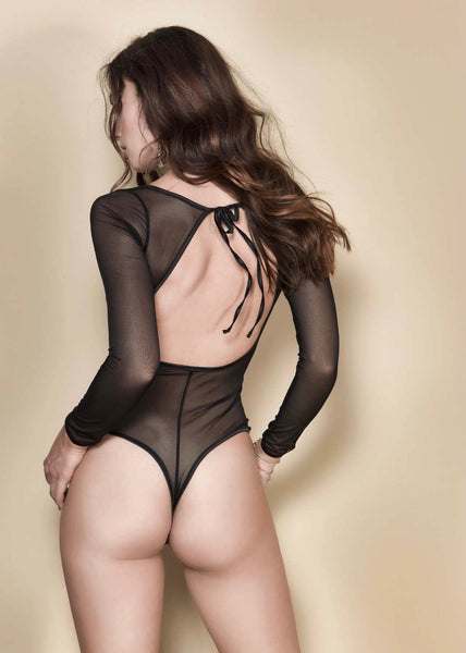 Stella Black Bodysuit