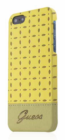 Guess Leather Case Yellow