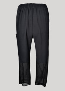 PANTS LOOSE ELASTIC BLACK PLAIN/MESH by BERENIK - East Hills Casuals
