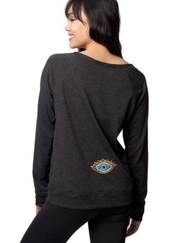 Emily Hsu Evil Eye Pullover Black Chambray - East Hills Casuals
