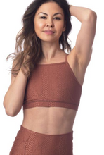 Load image into Gallery viewer, Emily Hsu Jacquard Snake Sukha Bra Cinnamon - East Hills Casuals