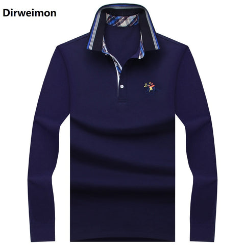 2019 New Classic Mens Polo Shirts Long Sleeve Spring Men's Shirt Brands Camisa Polo Masculina Plus Size 6XL 7XL 8XL 9XL 10XL