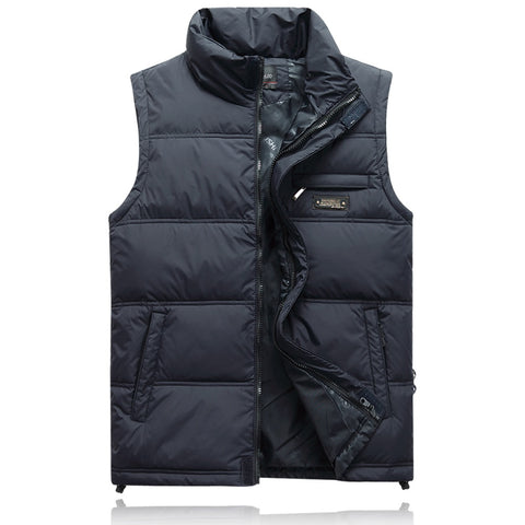 Winter Duck Down Vest For Men Parka Thick Warm Varsity Red Windbreaker Sleeveless Jacket Male Classic Casual Travel Waistcoat
