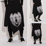 2020 Men Harem Pants Print Retro Drop Crotch Joggers Trousers Male  Punk Baggy Loose Nepal Style Double Layer Pants 5XL INCERUN