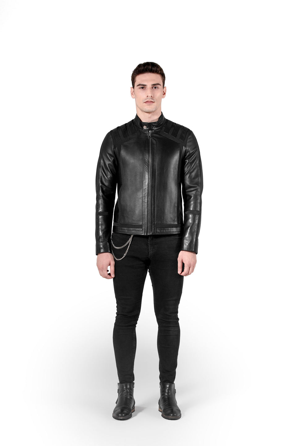Steven - Men's Black Leather Jacket