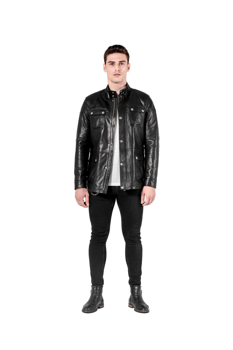 Patriot - Men's Black Genuine Leather Jacket Fashion 2020