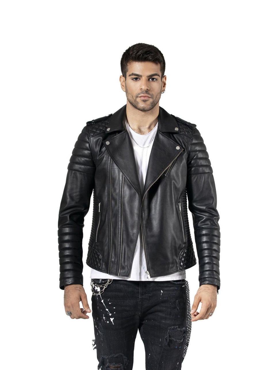 Edward - Men's Black Pure Soft Nappa Leather Jacket 2020