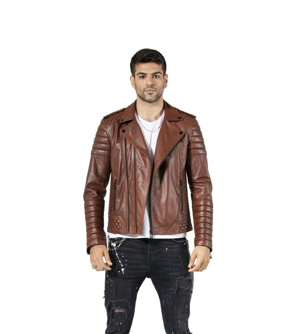 Edward the Visky Genuine Leather Jacket For Men's