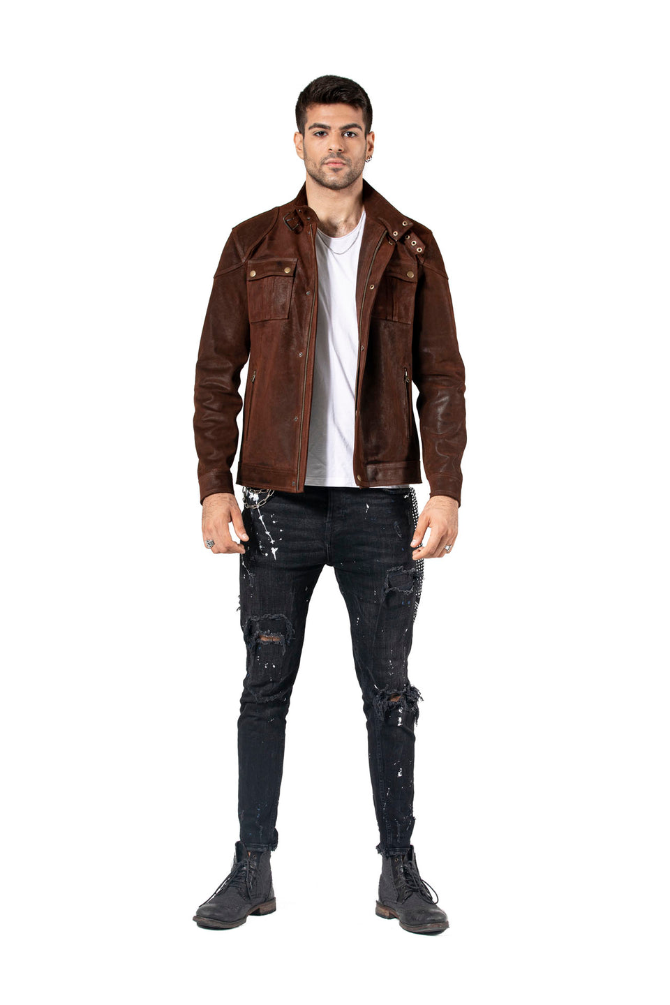 Oliver Genuine Leather Jacket For Men's