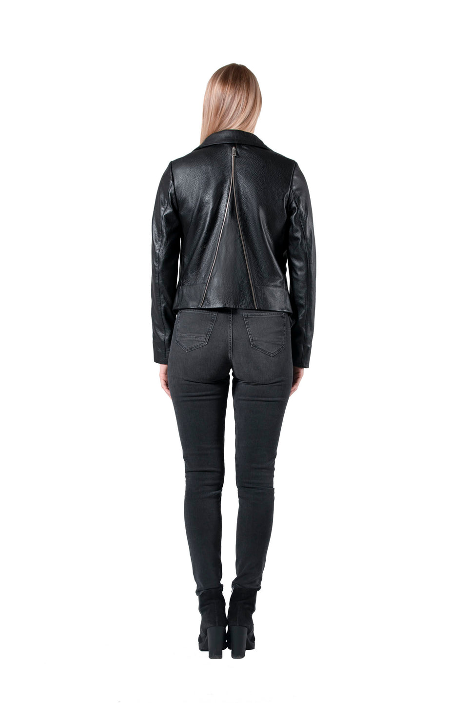 Taylor - Women's Black Genuine Leather Jacket 2020