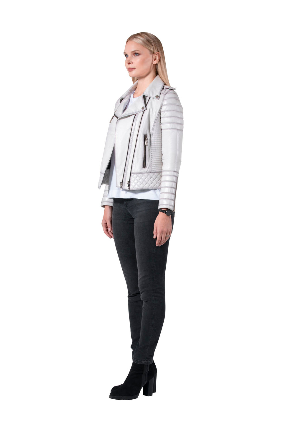 Grace - Women's Genuine Leather Zipper Jacket 2020