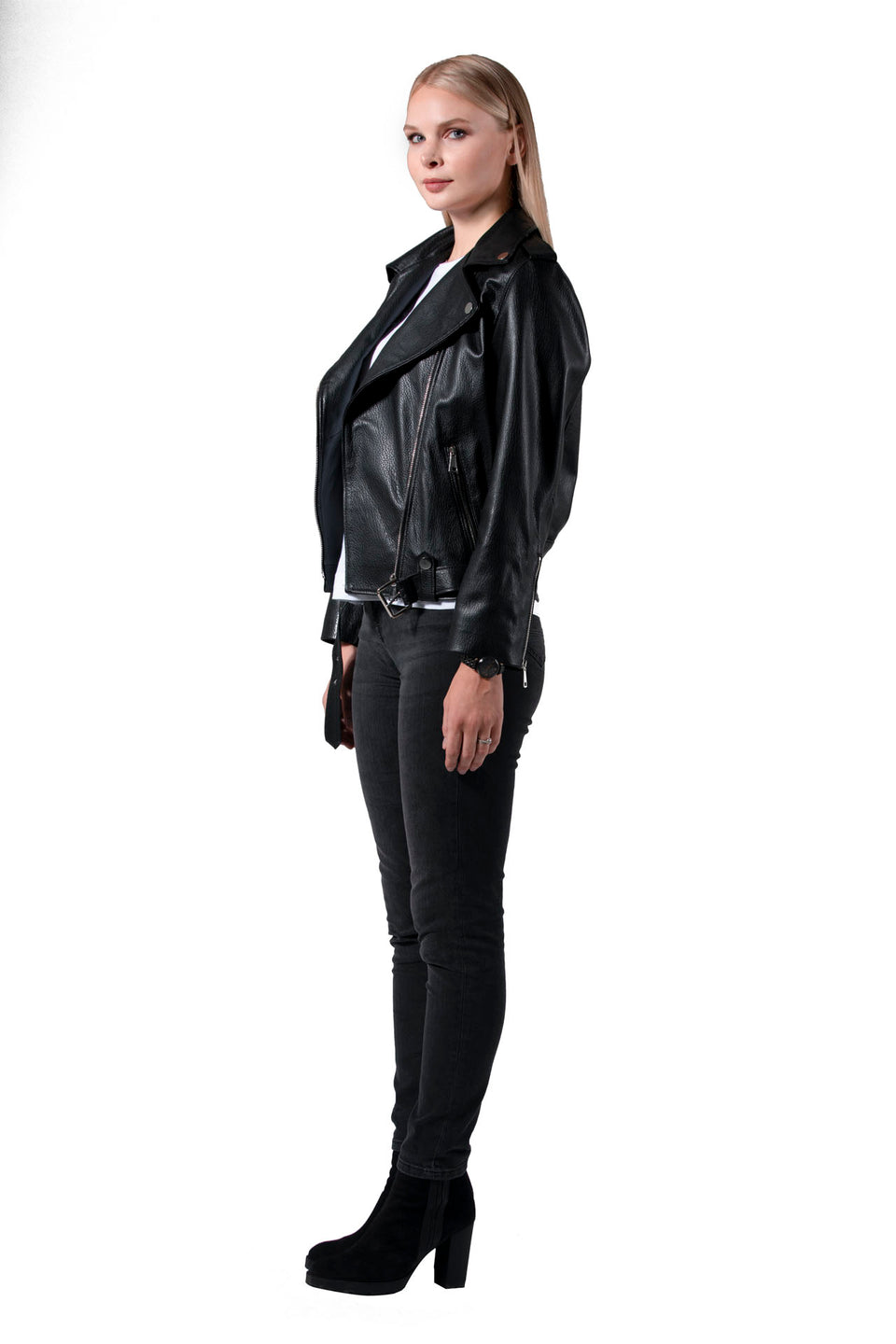 Megan - Women's Black Leather Jacket