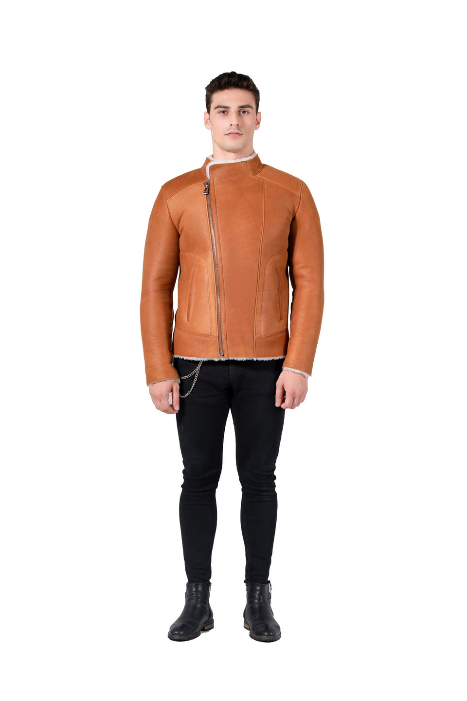 Detroit - Men's Shearling Leather Jacket Fashion 2020