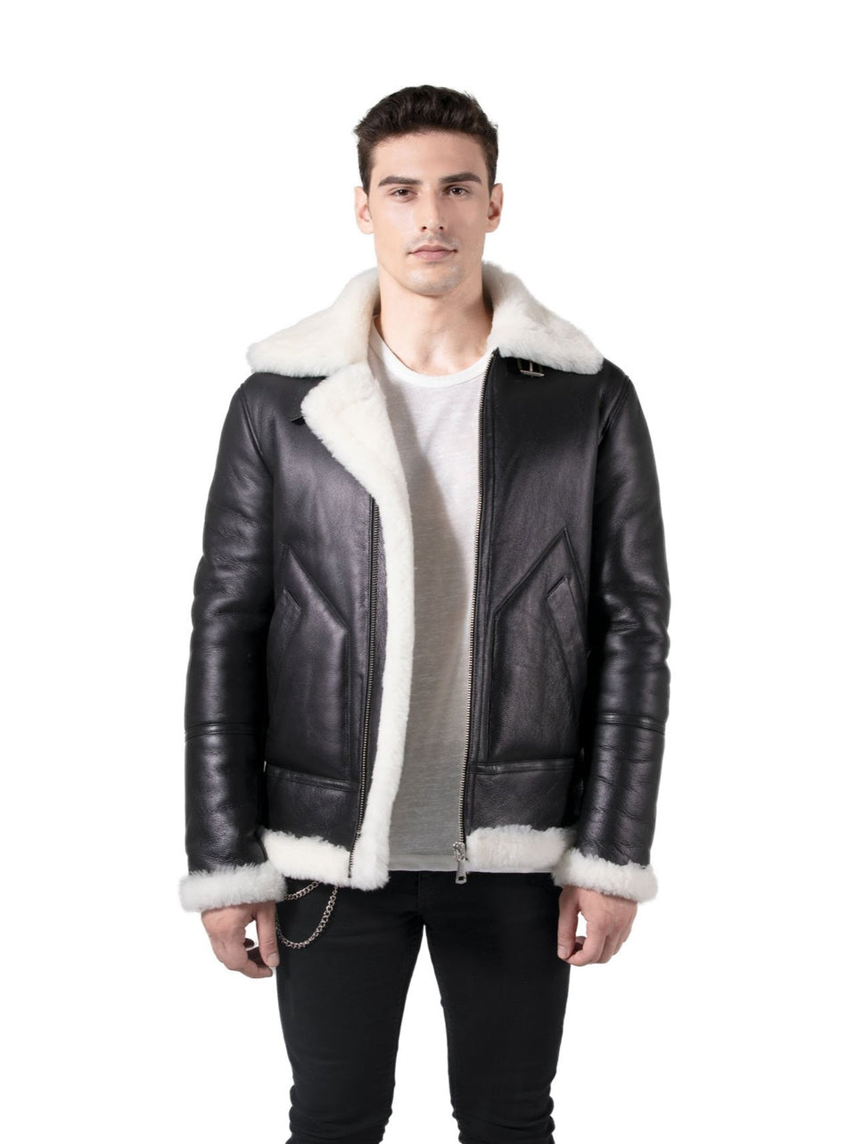 Vinly - Men's Premium Shearling Jacket - Zipper Jacket Fashion 2020
