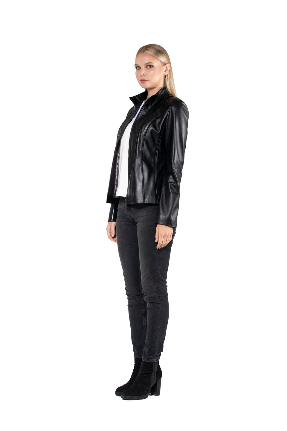 Darc - Women's Black Genuine Leather Jacket 2020