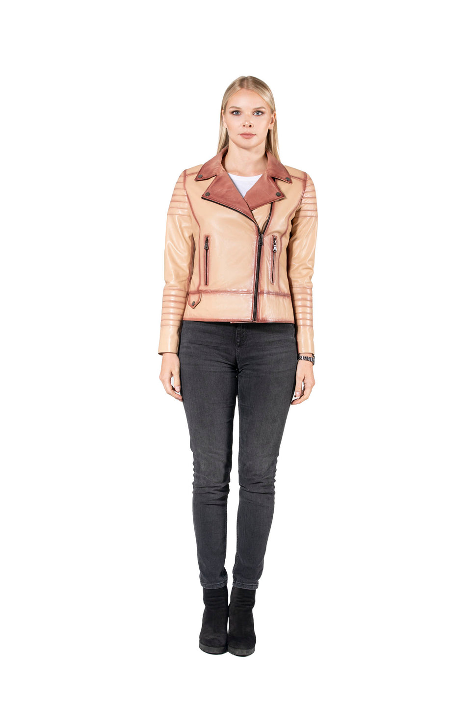 Naomi - Genuine Leather Jacket For Women's
