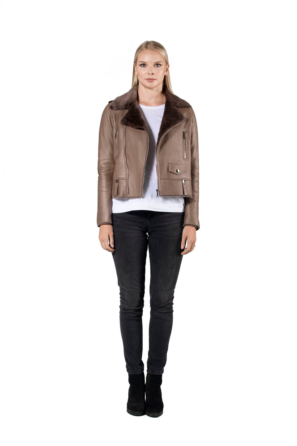 Adel - Women's Shearling Zipper Jacket Fashion 2020