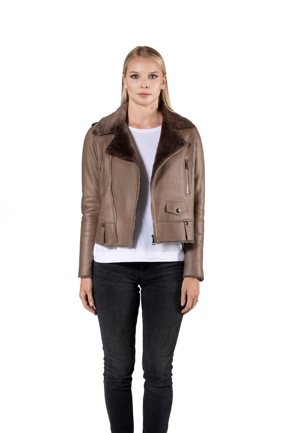 Adel - Women's Shearling Zipper Jacket Fashion 2020 -