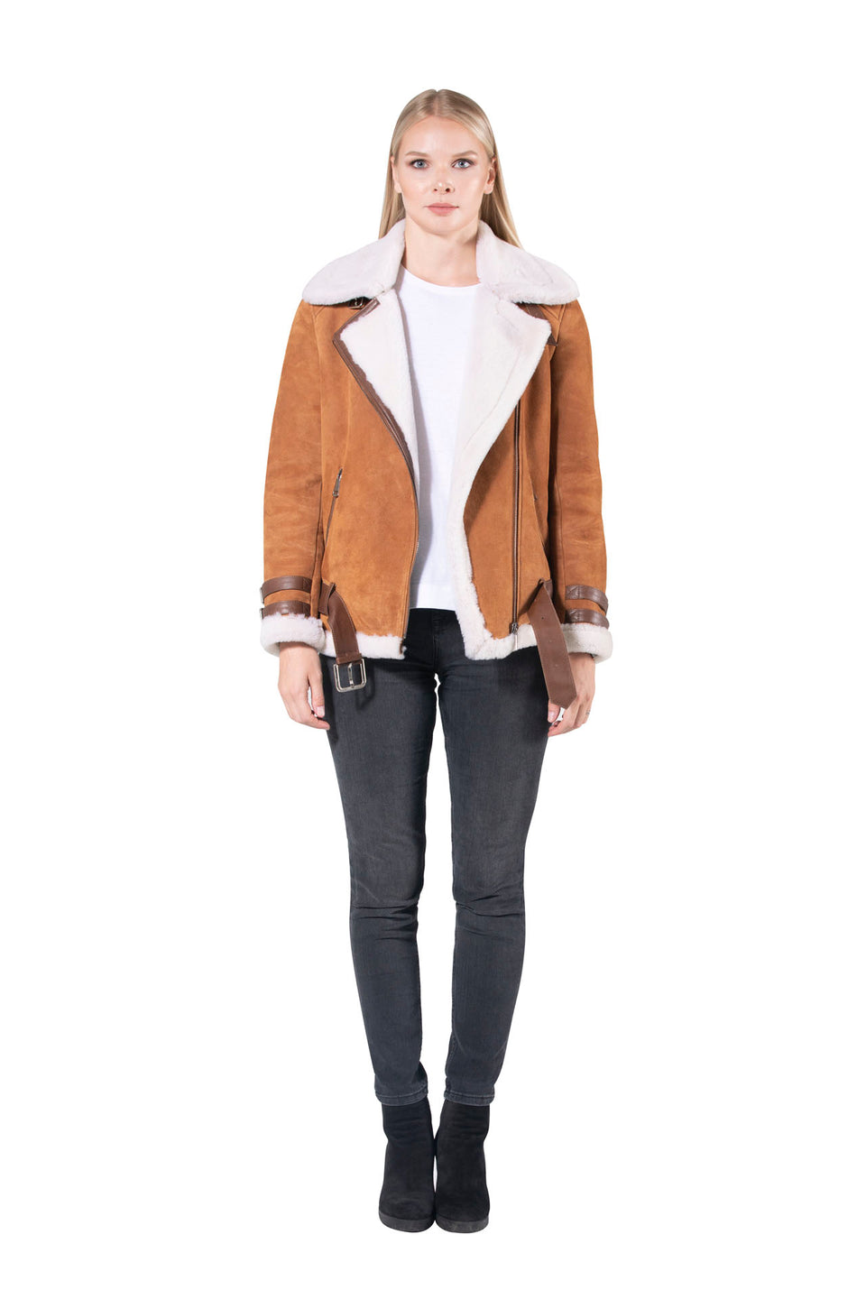 Victoria - Women's Handcrafted Premium Shearling Jacket 2020