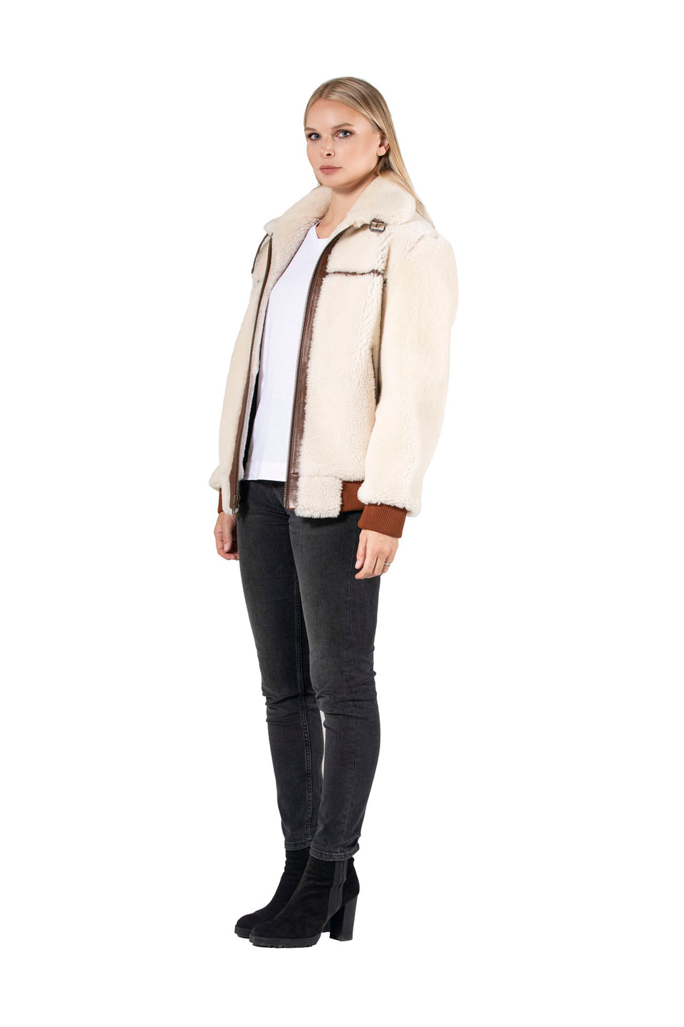 Scarlett - Women's Shearling Jacket Fashion 2020