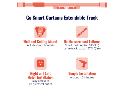 Go Smart Curtains Track