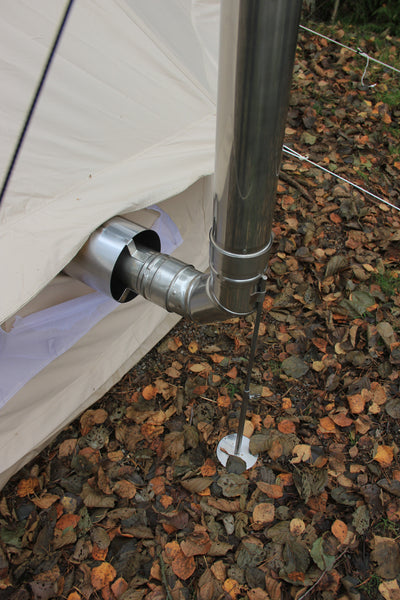 E - NEW Flue Kit in stainless steel  (CE mark, T 400)