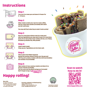 Happy Rollies DIY Ice cream rollies kit family fun and summer weather must buy