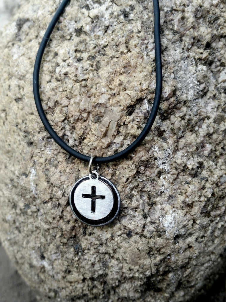 Upcycled Cross Necklace - Christian Jewelry