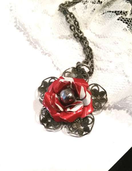 Recycled Coca Cola Filigree Necklace