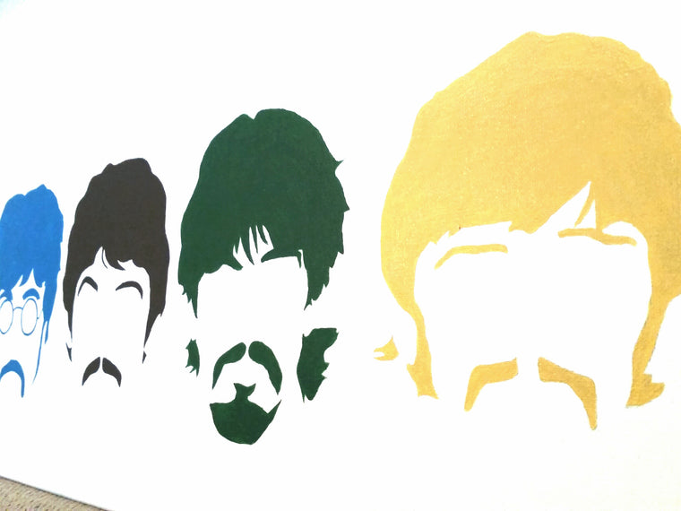 Beatles Original Canvas Painting - Pop Art
