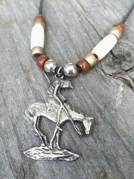 Vintage Tribal Necklace - Mens Jewelry Native American