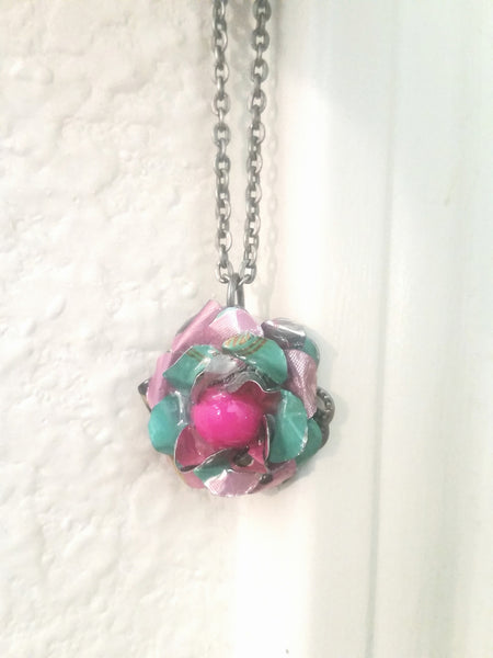 Recycled Arizona Flower - Hot Pink