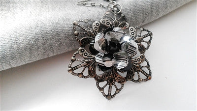 Black and White Star Necklace