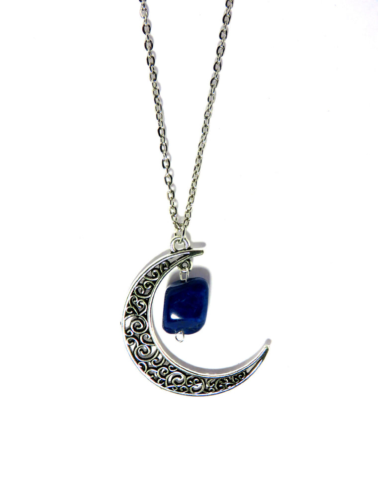 Filigree Crescent Moon Necklace