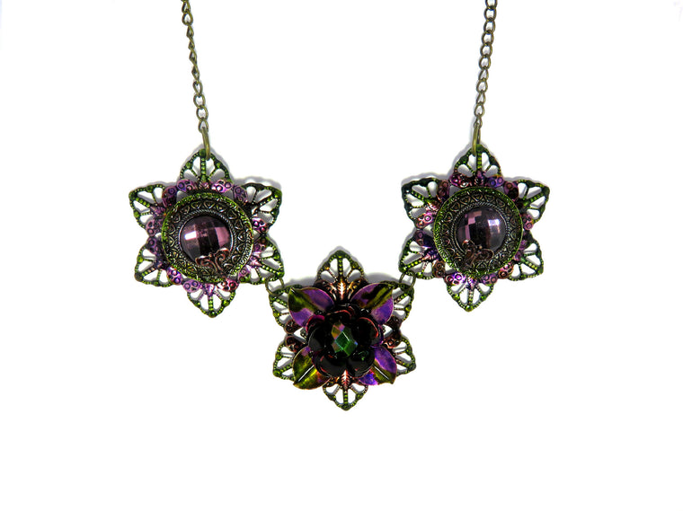 Emerald City Purple Statement Necklace - Custom