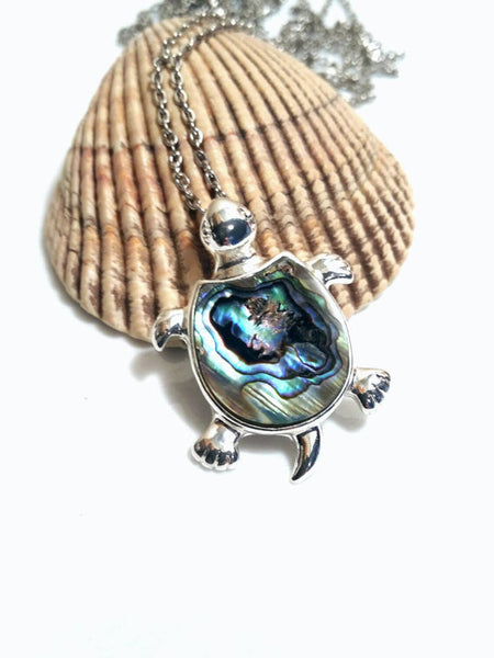 Abalone Shell Sea Turtle Necklace
