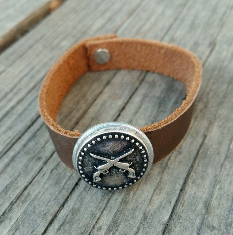 Second Amendment Bracelet - Leather