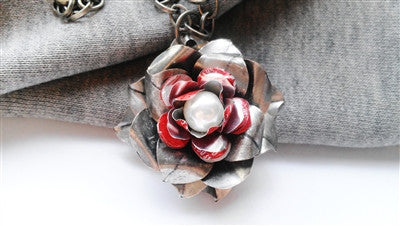 Coca-Cola Large Rose Pendant Necklace