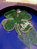 Collectible Ornament - Brand New Gloria Duchin Four Leaf Clover - Irish Christmas Ornament