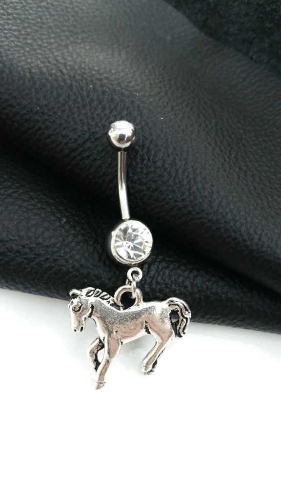 Horse Belly Button Ring